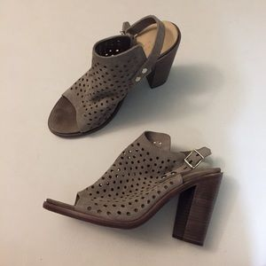 Rag & Bone perforated leather suede heeled sandal